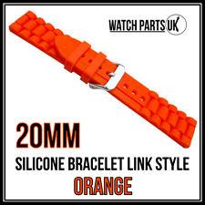 * 20mm naranja estilo de Enlace Pulsera Silicona Goma Reloj Correa De Alta Calidad *