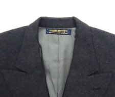 Brooks Brothers Men Camel Hair Blazer Jacket Coat Dark Gray Cashmere Like Sze 12