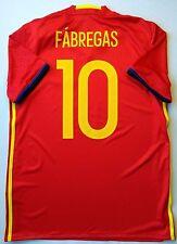 Fabragas Spain Jersey 2015 2016 Home M Shirt Camiseta Soccer Adidas AI4411 ig93