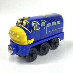 Chuggington Wooden Railway Chuggineer Brewster Tomy Magnetic Train Blue