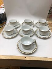 (7) Tea Cups & Saucers Sets Signature Collection Queen Anne Fine China C&S Mugs