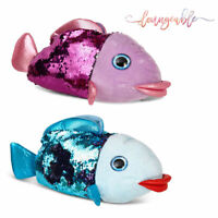 Loungeable Womens Novelty 3D Fish Slippers Ladies Sequin Animal Indoor Shoes