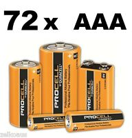 72 Duracell Procell Industrial AAA Batteries PC2400 1.5V LR6 Alkaline battery