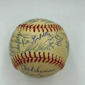 Beautiful 1976 Detroit Tigers Team Signed Baseball 33 Sigs With JSA COA