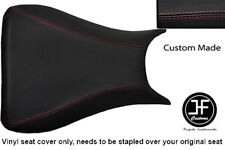 RED STITCHING VINYL CUSTOM FITS YAMAHA 600 YZF R6 03-05 FRONT SEAT COVER ONLY