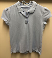 Childrens Place Girls School Uniform Knit Polo Shirt Light blue Size 10/12