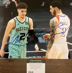 LaMelo Ball & Lorenzo Ball Signed Hornets & Pelicans 8x10 Photo COA