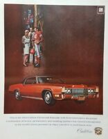 1969 Cadillac Fleetwood El Dorado Red Photo Vintage Print Ad