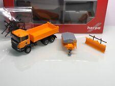 Herpa 306492 Scania R Winterdienst mit Räumschild und Streuer in OVP (Mo4313)