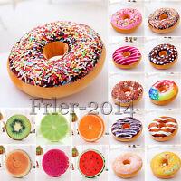 3D Soft Plush Garden Donut  Fruit Food Cushion Seat Sofa Car Garden Home Decor