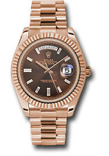 Rolex Day Date President 40mm 18kt Rose Gold Chocolate Diamond Dial 228235 3255