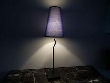 Lampe éclairage table chevet Mathias métal tissu art déco design XXe PN France