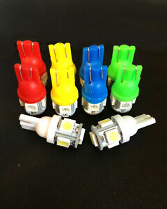 10 Asst Wedge 194 T10 Instrument Panel LED Bulbs Lamps Buick Cad Chevy Olds Pont