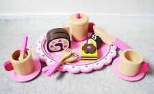 Wooden Cutting Food Afternoon Tea Set, Pretend Play Food by Beehive Toy Factory