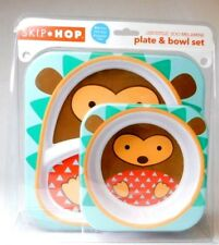 Skip Hop Zoo Plate & Bowl Set Zoo Melamine BPA, PVC, & Phthalate-Free Brand New