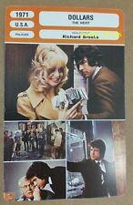 US Movie The Heist $ Dollars Goldie Hawn Warren Beatty French Film Trade Card
