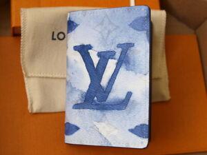 LOUIS VUITTON M80455  POCKET ORGANISER WATERCOLOUR BLUE NEW