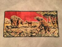 Vtg Bear Wilderness Forest Cabin Woods Decor Tapestry Wall Hanging Art Rug