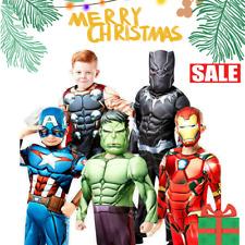 Superhero Kids Xmas gift Costumes Deluxe Avengers Infinity War Boys Fancy Dress