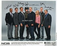 "NCIS TV Show Reprint Signed 8x10"" Cast Photo #3 RP Mark Harmon"