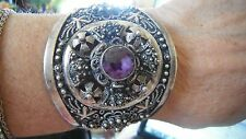 rare vintage STERLING silver hinged cuff bracelet,Bethlehem,Middle Eastern