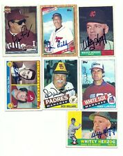 Jim Bibby signed 1990 Topps Senior League Baseball #128 deceased