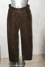 luxueux pantalon cuir marron CHEVIGNON T 36  SATISFAIT/REMBOURSÉ  * COMME NEUF *