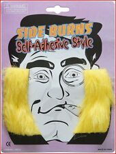 Seventies 70's Noddy Holder Fancy Dress Sideburns Yellow / Blonde Self Adhesive