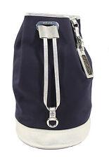 Ralph Lauren Purple Label Canvas Leather Shoulder Bucket Bag New $395