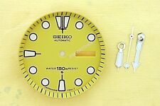 NEW SEIKO YELLOW DIAL HANDS MINUTE TRACK SET FOR SEIKO 6309 7040 WATCH NR#214
