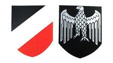 Helmabzeichen Stahlhelm Abziehbild Wasserlöslich Decal Wehrmacht Heer
