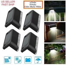 4/8pcs Solar Powered LED Deck Lights Outdoor Path Garden Stairs Step Fence Lamp