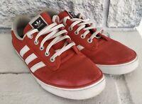 Adidas Originals/ Kiel Red Canvas Athletic Skate Shoes Sneakers Men's SZ 10.5