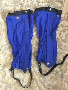 Lowe Alpine Leg Gaiters Waterproof Snow Boot Gaiters hiking black blue zip snow