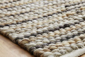 NATURAL Loopy Piled Modern Handwoven HEAVY & CHUNKY Wool Dhurrie Rugs 50%OFF RRP
