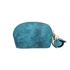 Women Leather Small Mini Wallet Card Key Holder Zip Coin Purse Clutch Handbag UK