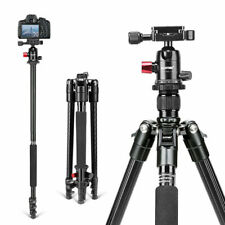 M6 Camera Tripod Monopod Heavy Duty Aluminium&Ball Head for Canon Nikon