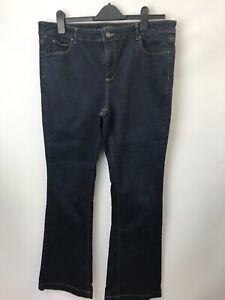 Blue 73 Bootcut Dark Blue Denim Jeans UK 18R Length31''  Stretch