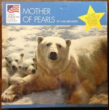 Mother of Pearls Polar Bear & Cubs 1000 + pc Great American Puzzle Factory NEW