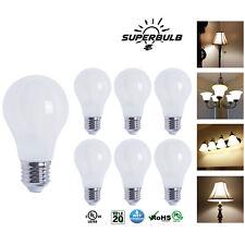 A19 LED 800 Lumen Light Bulb 2700K Warm White 6.5W 60W Equivalent E26 (6-Pack)
