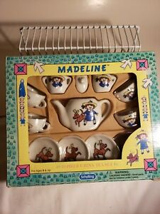 MADELINE Mini Porcelain Tea Set ~13 Piece Set ~ Box by Schylling 1997