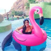 Pool Flamingo Inflatable Giant Ring Float Swimming Swim Raft Pink Party Beach