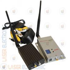 Kit Wireless Trasmettitori Audio-Video multicanale Lungo Raggio 2.0 Watt 1.2ghz