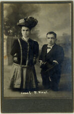 Photo Couple Nichol Lilliputien Nain Midget Chicago Vers 1930