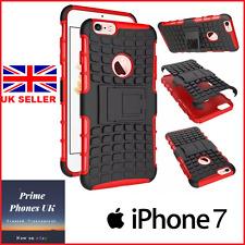 """Apple Iphone 7 4.7"""" - Delgado Duro armadura soporte Protector caso cubierta roja"""