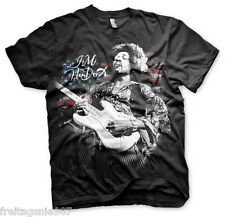 JIMI HENDRIX Flag  T-Shirt  camiseta cotton officially licensed