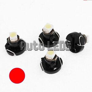 1 Red SMD LED T3 Neo Wedge 12v Interior LED Bulb