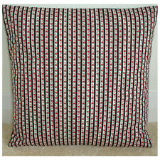 """16"""" Cushion Cover Floral Stripe Red Roses Cream and Black NEW 16x16 Rose"""