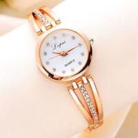 Fashion Ladies Women's Wrist Watch Stainless Steel Rhinestone Quartz Girls Watch