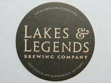 Collectible Coaster: LAKES & LEGENDS Brewing Co ~ Minneapolis, MINNESOTA ~ Eagle